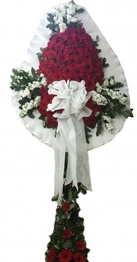 Çelenk 80 Gerbera 10 Beyaz Çiçek