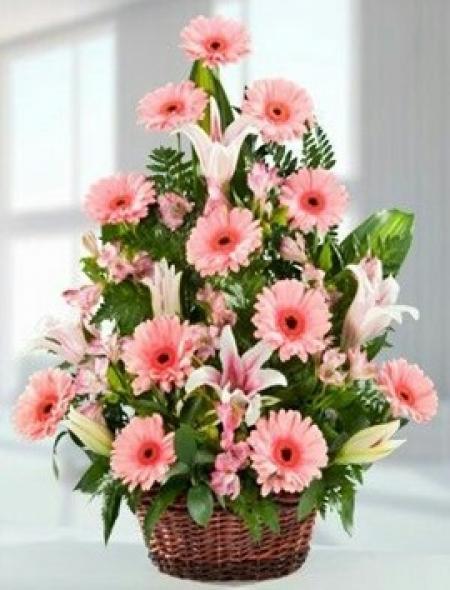Çiçek Aranjmanı Pembe