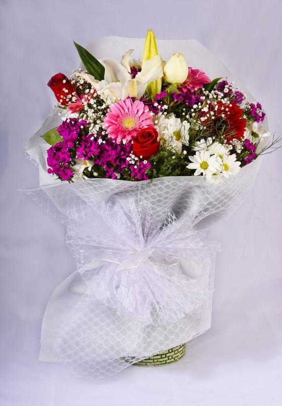 Renkli İzmir Çiçek Buketi