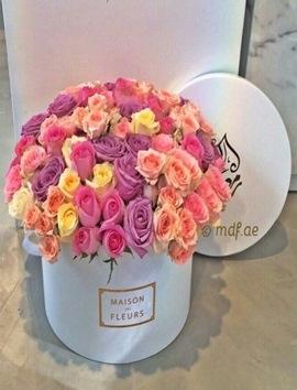 Kutuda İthal Renkli Özel Güller VIP