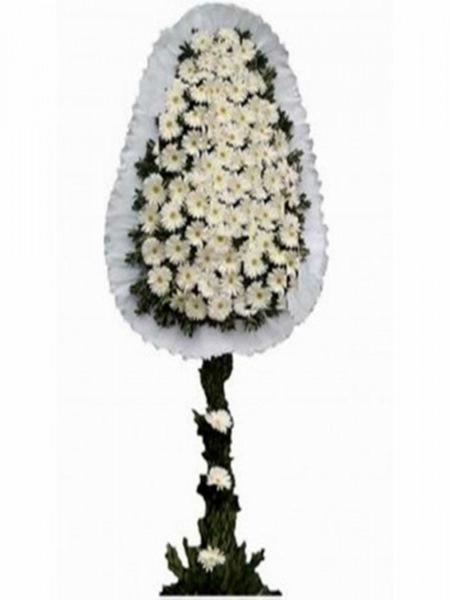 Beyaz Çelenk 80 Adet Çiçek