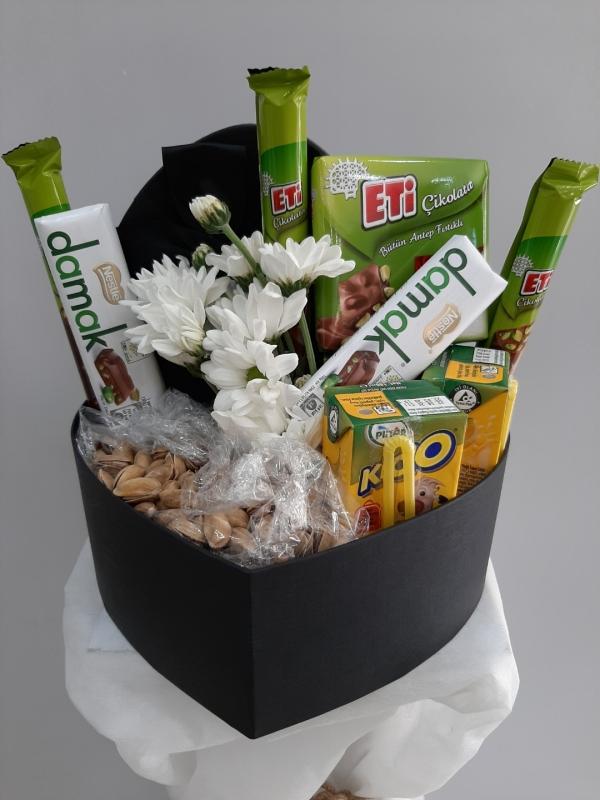 Hediye Çiçek Lezzet Kutusu