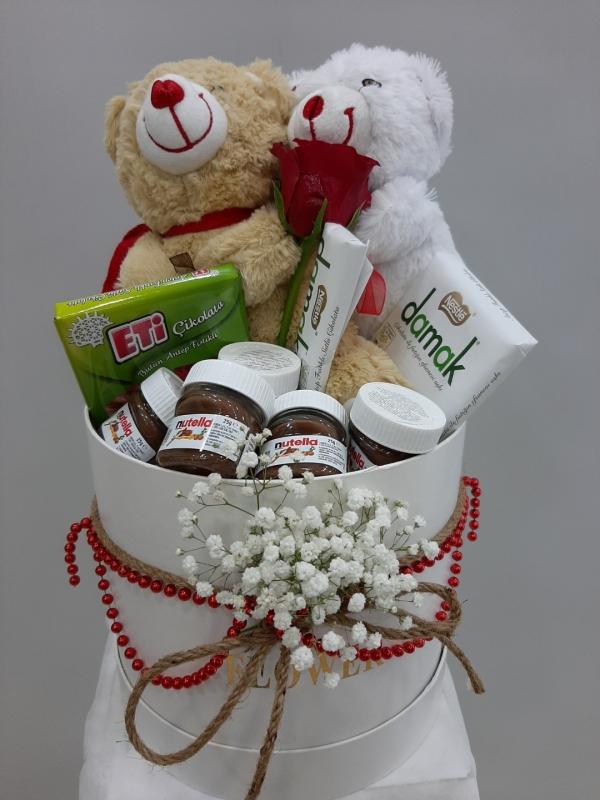 Sevimli Romantik Kutusu Çikolata Ayıcık