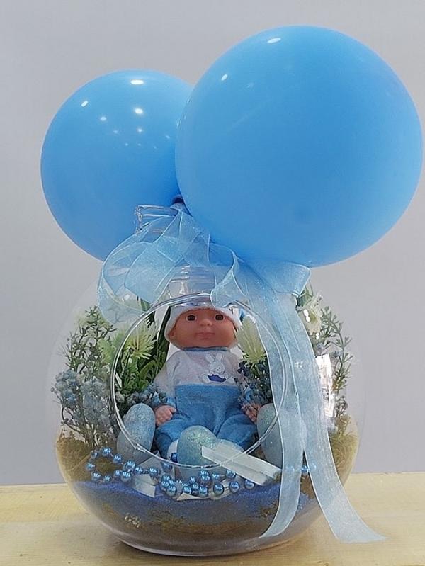 Balonlu Erkek Bebek