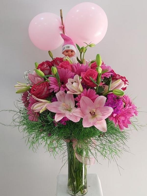 Kız Bebek Hoşgeldin Çiçeği