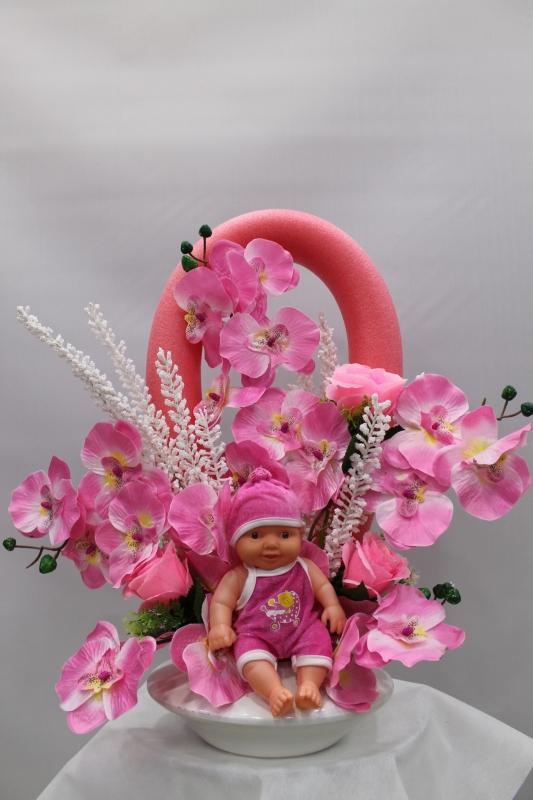 Kız Bebek İçin Yapay Çiçek