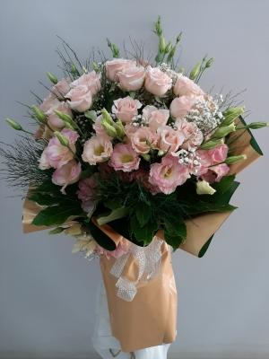 Lüx Pembe Çiçek Buketi